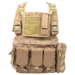 AMA 1000D MOLLE Strikeforce RRV Modular Chest Rig - TAN