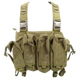 AMA 600D Lightweight Magazine Airsoft Chest Rig - OD