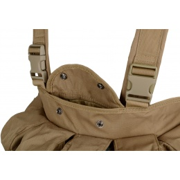 AMA 600D Contruction Lightweight Airsoft Chest Rig - TAN