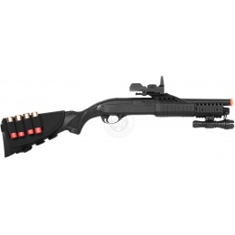 AGM Airsoft Shell-Fed Pump Action Shotgun w/ Flashlight and Full Stock