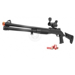 AGM Airsoft FULL SIZE M1014 Retractable Stock Shotgun w/ Red Dot