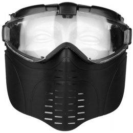 G-Force Pro Series Airsoft Full Face Mask w/ Fan Ventilation - BLACK