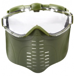 G-Force Airsoft Pro Series Full Face Mask w/ Integrated Fan - OD