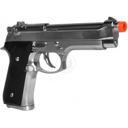 350 FPS KJW SIG3 Semi Auto M9 Gas Blowback Airsoft Pistol - Silver
