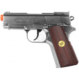 WG Full Metal 1911 ACP Airsoft CO2 Non Blowback Pistol - SILVER