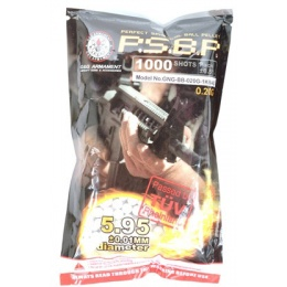 0.20g G&G Armament P.S.B.P. Seamless 6mm Airsoft BBs - 1000rd Bag