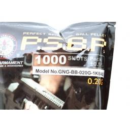 0.20g G&G Armament P.S.B.P. Seamless 6mm Airsoft BBs - 1000rd Bag