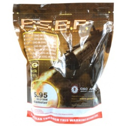 0.20g G&G P.S.B.P. Seamless 6mm Airsoft BBs 5000rd Bag - DESERT BROWN
