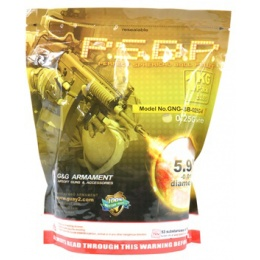 0.25g G&G Armament P.S.B.P. Seamless 6mm Airsoft BBs - 4000rd Bag