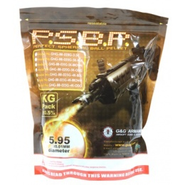 0.25g G&G Armament Perfect Spherical Seamless Airsoft BBs - 4000rd BAG