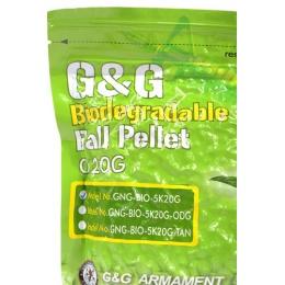 0.20g G&G Perfect BIODEGRADABLE Seamless 6mm Airsoft BBs - 5000rd Bag