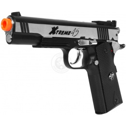 G&G Xtreme 45 Airsoft M1911 CO2 Blowback Pistol - SILVER