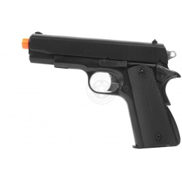 HFC M1911 Airsoft Spring Pistol w/ Heavyweight Magazine - BLACK