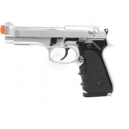 HFC Airsoft M9 Vertec Heavyweight Spring Pistol w/ SlideLock - SILVER
