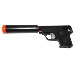 HFC Combat Commander Non-Blowback Airsoft Pocket Gas Pistol w/ Suppressor (Color: Black)