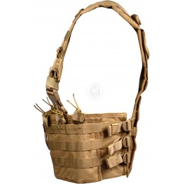 NcStar MOLLE Modular Chest Rig w/ Integrated Hydration Pouch - TAN