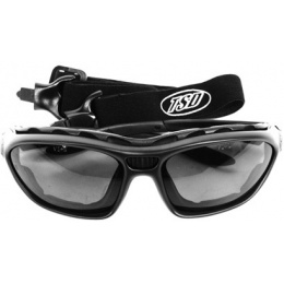 TSD Eye Armor Goggles / Glasses w/ Full Seal Lenses - SMOKED LENS