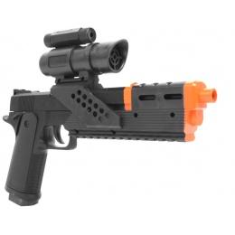 Galaxy Ultra-Grade ROBO-45 Pistol Airsoft Gun w/ Extended Barrel