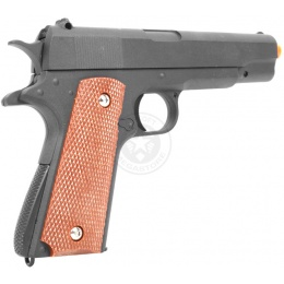 Galaxy Full Metal M1911A1 Pistol Airsoft Gun - Functional Slide