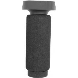 JBU Airsoft Full Metal Foam Padded Vertical Foregrip - BLACK