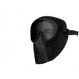 SRC Full Face Tactical Sansei Mesh Face Mask - BLACK