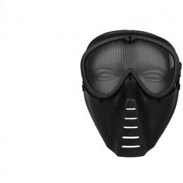 SRC Full Face Tactical Sansei Mesh Face Mask - BLACK
