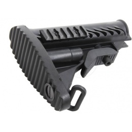 APS Modular Retractable Rear LE Stock for M4/ M16 AEG Rifles - BLACK