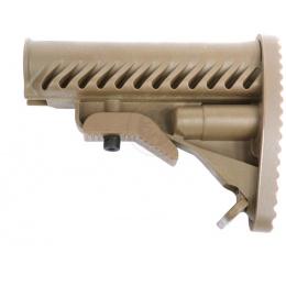 APS Modular Retractable LE Stock for M4/ M16 AEG Rifles - DARK EARTH