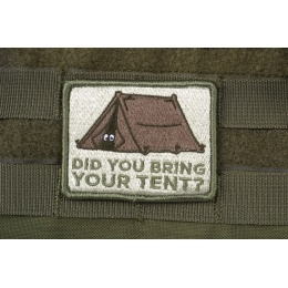 AMS Bring Your Tent Patch - OD GREEN - Premium Hi-Fidelity Series