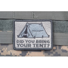 AMS Bring Your Tent Patch - GRAY/ ACU - Premium Hi-Fidelity Series