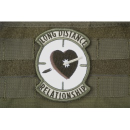 AMS Airsoft Premium Long Distance Relationship Patch - OD GREEN