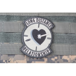 AMS Airsoft Premium Long Distance Relationship Patch - GRAY/ ACU