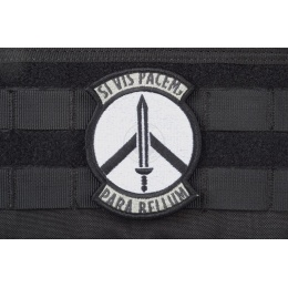 AMS Prepare for War Patch - BLACK/ SWAT - Hi-Fidelity Patch Series