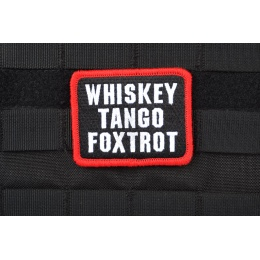 AMS Airsoft Premium Whiskey Tango Foxtrot Patch - Full Color