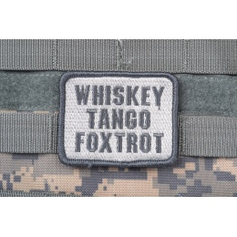 AMS Airsoft Premium Whiskey Tango Foxtrot Patch - GRAY/ ACU