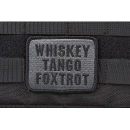 AMS Premium Whiskey Tango Foxtrot Patch - BLACK/ SWAT