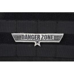 AMS Danger Zone Patch - BLACK/ SWAT - Premium Hi-Fidelity Series