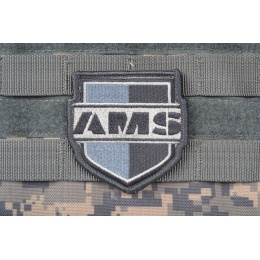 AMS SHIELD Patch - GRAY/ ACU - Premium Hi-Fidelity Patch Series