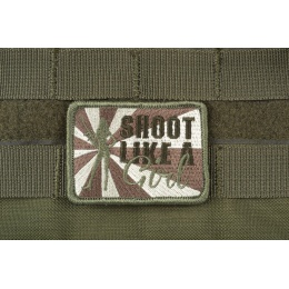 AMS Shoot Like A Girl Patch - OD GREEN - Hi-Fidelity Patch Series
