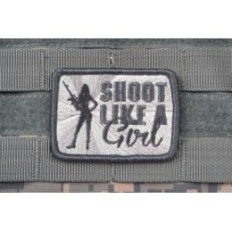 AMS Shoot Like A Girl Patch - GRAY/ ACU - Hi-Fidelity Patch Series