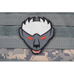 AMS Honey Badger Patch: Hi-Fidelity Patch Series - GRAY/ WHITE