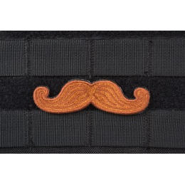 AMS Tactical Mustache Patch - BROWN - Premium Hi-Fidelity Patch Series