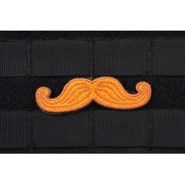 AMS Tactical Mustache Patch - RED - Premium Hi-Fidelity Patch Series