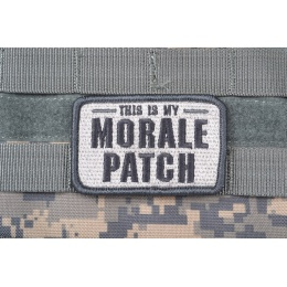 AMS Tactical Morale Patch - GRAY/ ACU - Premium Hi-Fidelity Series