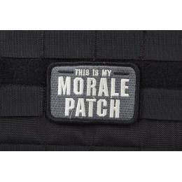 AMS Tactical Morale Patch - BLACK/ SWAT - Premium Hi-Fidelity Series