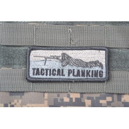 AMS Tactical Planking Patch - GRAY/ ACU - Hi-Fidelity Patch Series