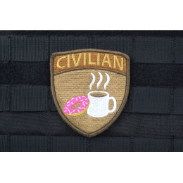 AMS CIVILIAN Patch - Full Color - Premium Hi-Fidelity Patch Series