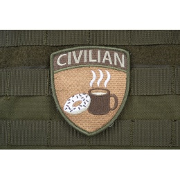 AMS CIVILIAN Patch - OD Green - Premium Hi-Fidelity Patch Series
