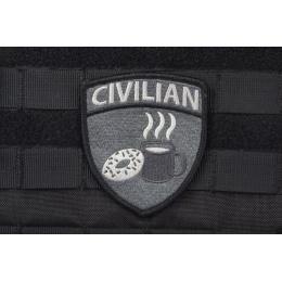 AMS CIVILIAN Patch - BLACK/ SWAT - Premium Hi-Fidelity Patch Series