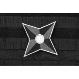 AMS Tactical Ninja Star Patch - BLACK/ SWAT - Hi-Fidelity Patch Series